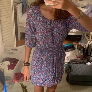 Hollister Flowered Dress M (runs small)